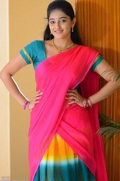 Beauty Full Girl, Half Saree, Sari, Fashion, Saree, Moda, Fashion Styles, Fashion Illustrations, Fashion Models