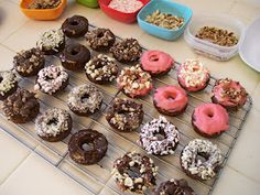 Happy National Donut Day! Shelly's Mini Chocolate Protein Donuts