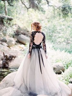 A non-white wedding dress: http://www.stylemepretty.com/2016/03/18/30-ways-to-break-the-rules-and-have-the-coolest-wedding-ever/: