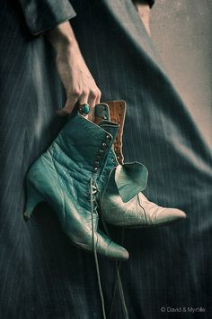 """soyouthinkyoucansee: """"On my stairway to heaven. Stairway To Heaven, Aqua, Teal Blue, Color Turquesa, Old Shoes, Edwardian Era, Victorian Era, Mint, Jane Austen"""
