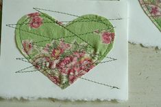 Sew a heart on a card