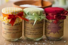 Diy Christmas Presents, Xmas, Flavored Oils, Spice Rub, Jar Gifts, Creative Food, Creative Ideas, Inspirational Gifts, Packaging