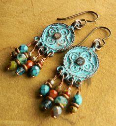 Mykonos Chandelier Earrings by Gloria Ewing
