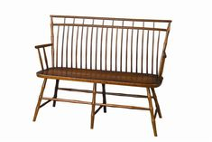 This stunning Windsor Bench is Amish handcrafted from solid cherry wood with your choice of finish to match your home decor. Colonial Furniture, Amish Furniture, Custom Furniture, Cherry Wood Furniture, Tavern And Table, Painted Dining Chairs, Primitive Tables, Reclaimed Barn Wood, Windsor Bench