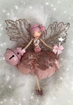 Fairy Crafts, Garden Crafts, Christmas Crafts, Christmas Ornaments, Christmas Fairy, Christmas Angels, Pipe Cleaner Art, Xmas Tree Decorations, Felt Fairy