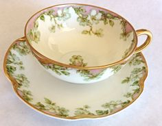 limoges tea cup set Haviland & Co