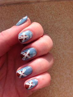 CND Shellac windmill nail art