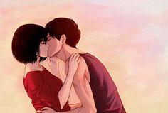 "daydream24-7: SNK Eremika Kiss "" delivering some eremikas ( ͡• ◡ ͡•) """