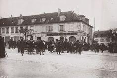 L'agence de la Société Générale à Chantilly, quelques heures après l'attaque de la bande à Bonnot © Bibliothèque Zoummeroff