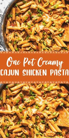One Pot Creamy Cajun Chicken Pasta - Food Recipes Chicken Pasta Crockpot, Cajun Chicken Recipes, Healthy Chicken Recipes, Easy Chicken Pasta Bake, Crockpot Recipes Pasta, Baked Cajun Chicken, Grilled Chicken Pasta, Chicken Pasta Casserole, Chicken Pasta Dishes