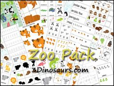 Free Zoo Preschool Printables!   2 Teaching Mommies