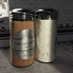 Revitalizing Organic Dry Shampoo for Light or Dark Hair - 3 oz. Glass Jar with Sifter Cap for easy Application
