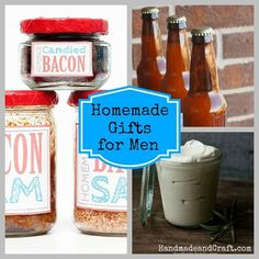 Valentines Day idea - Homemade Gifts for Men....great ideas! #diy #men