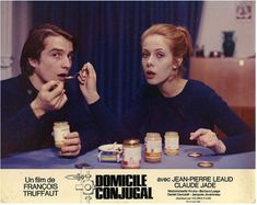 Domicile conjugal (1970) Movie Photo, Movie Tv, Jean Pierre Leaud, Urban Movies, Francois Truffaut, Library Pictures, Creepy Photos, Alvin And The Chipmunks, Pretty Images