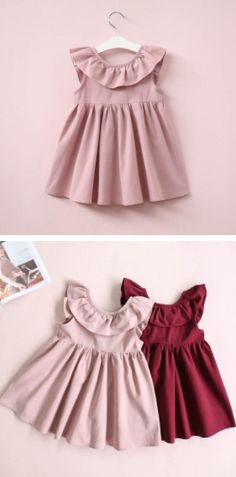 Perfect for any kind of gathering or party. The ruffles are cute and smart at the same time. Toddler Girl Style, Toddler Girl Outfits, Toddler Dress, Toddler Girls, Baby Skirt, Baby Dress, Ruffle Dress, Ruffles, Baby Girl Fashion