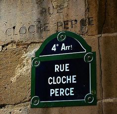 La rue Cloche-Perce, ancien et nouveau...  (Paris 4ème).