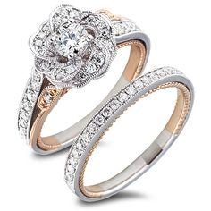 Rosé Collection Engagement Ring Set