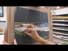 speed painting, soft pastel landscape by Nathalie JAGUIN - YouTube