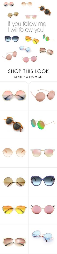 """Follow me!"" by california-cheerleader ❤ liked on Polyvore featuring ZeroUV, Linda Farrow, Garrett Leight, Ray-Ban, Oscar de la Renta and Michael Kors"
