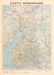 virallisen suur-Suomi-projektin 1939 tavoitekartta - OW Kuusinen-Quisling & JV Stalin