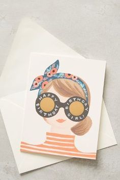 Rifle Paper Co. Birthday Girl Card #anthrofave