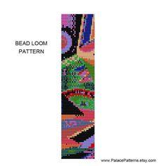 Freeform Geometric Bead Loom Weaving Bracelet by PalacePatterns