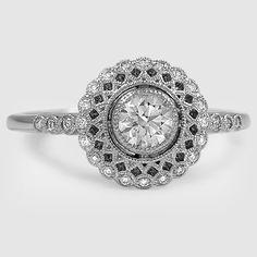 Platinum Alvadora Diamond Ring // Set with a 0.35 Carat, Round, Super Ideal Cut, I Color, SI1 Clarity Diamond #BrilliantEarth