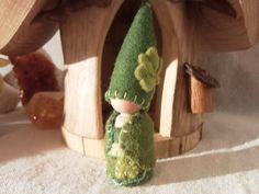 Shamrock Gnome St Patricks Day Waldorf by paintingpixie on Etsy
