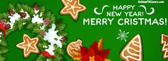 Merry Christmas Cookies Facebook Cover HolidayFBCovers.com