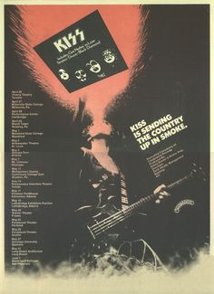 KISS ad for first album tour.