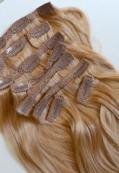 Dirty Blonde Clip-In Hair Extensions- 20 inches / 200 gram full head s – Glossie Hair Company Blonde Curly Hair, Curly Hair With Bangs, Curly Hair Styles, Losing Hair Women, Extensions For Thin Hair, Going Blonde, Human Hair Clip Ins, Blonde Highlights, Blonde Balayage
