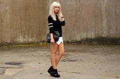 sports fashion monochrome skort blogger fashion