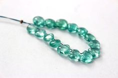 Paraiba Blue Apatite Smooth Heart / 7 to 7.50 by beadsofgemstone
