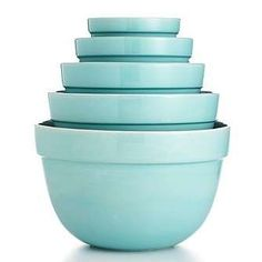 Martha Stewart Collection - Martha Stewart Collection 5-Piece Blue Ceramic Bowl Set