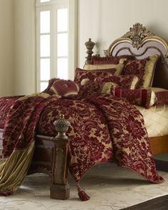 The Brilliance Of Burgundy, The Drama Of Gold and Tassels. Gorgeous..............