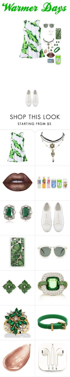 """""""Warmer Days"""" by missykatemel ❤ liked on Polyvore featuring Lime Crime, Toast, Carolee, Casetify, Karen Walker, Piranesi, Martin Katz, Palm Beach Jewelry, Marc by Marc Jacobs and Jouer"""