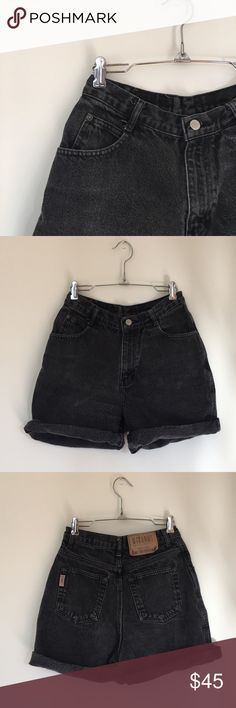 Vintage Gitano Jean Shorts Vintage high waist short by Gitano Jeanwear. Size 8 but probably more a 6. Rollup in the picture but perfect for cutting for the length of your own liking. 100% Cotton Gitano JeanWear Shorts Jean Shorts