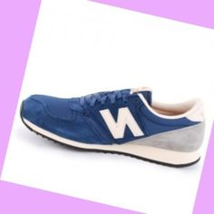 New Balance 420 Laced Suede & Nylon Mænds Trænere Royal Blå,Modern trainers can bying to walk all over the world lightly.
