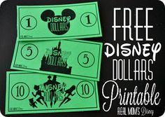 FREE #Disney Dollars Printable! You guys have got to follow @realmomsdisney