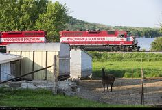 RailPictures.Net Photo: WSOR 3802 Wisconsin & Southern EMD GP38 at Atlanta, Illinois by Steve Smedley