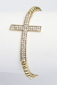 """Big Gold cross bracelet, only #10.50 for an extra 5% off use the coupon code """"Russell"""""""