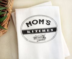 Mom's Kitchen Tea Towel Kitchen Flour Sack Towel Mom by Apple White handmade Hand Towels, Tea Towels, Gifts For Girls, Gifts For Mom, Mom Survival Kit, Bourbon And Boots, Flour Sack Towels, Mom Day, Mothers Day Crafts