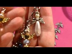 How to Make Jewelry Christmas Ornament with Beads and Pearls for Christmas tree decor - YouTube