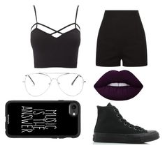 """""""😎"""" by sinai05 on Polyvore featuring Charlotte Russe, Casetify, Converse and plus size clothing"""