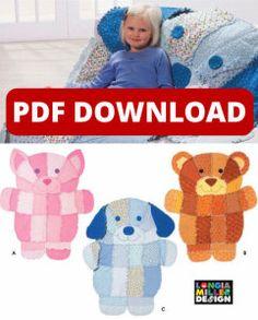 Rag Puppy / Kitten / Bear Quilt Pattern - Digital Download