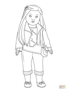 American Girl doll coloring pages and get all creative with your favorite American Girl doll character and favorite coloring supplies! Five American Girl Doll coloring pages are ready for printing and coloring. Birthday Coloring Pages, Coloring Pages For Girls, Coloring Pages To Print, Free Coloring Pages, Printable Coloring Pages, Coloring Books, Coloring Sheets, American Girl Birthday, American Girl Parties