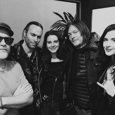 Patrick Hoelck, Lana Del Rey, Norman Reedus, and Imogen Lehtonen filming 'The Ride with Norman Reedus' at The Great Frog in California on February 2, 2016.