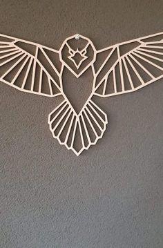 Geometric Wolf Tattoo, Geometric Quilt, Geometric Drawing, Geometric Wall Art, Scrap Metal Art, Metal Wall Art, Wood Art, String Art Templates, Metal Projects