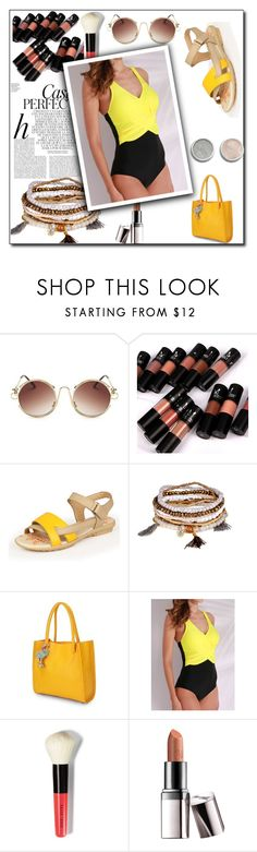 """""""BEACH DAY"""" by maja9888 ❤ liked on Polyvore featuring Bobbi Brown Cosmetics, Terre Mère, Whiteley and Barry M"""