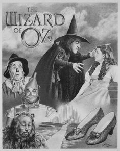 Wizard of Oz~old school poster